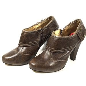 Seychelles Booties Brown Leather Ankle Boots 10